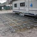 Clusane d'Iseo (BS) Evoluzione montaggio: pedana, copertura e veranda.